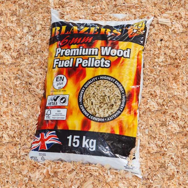 Blazers kg bagged heating pellets wood fuel wales